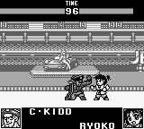World Heroes 2 JET Game Boy c-kidd vs. ryoko