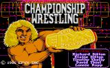 Championship Wrestling Atari ST Title screen