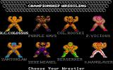 Championship Wrestling Atari ST Select your wrestler