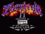 Turrican II: The Final Fight Amiga The title screen in all its glory