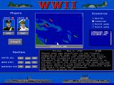 World War II: Battles of the South Pacific DOS Main menu