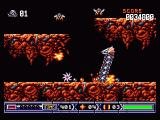 Turrican II: The Final Fight Amiga ... you can use small bombs. Yes, they are unhealthy :)
