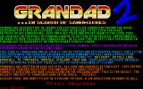 Grandad 2: In Search of Sandwiches Atari ST Title and information screen