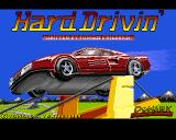 Hard Drivin' Amiga Title screen