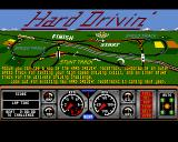Hard Drivin' Amiga Main menu