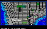 Manhunter: New York Atari ST One of the maps over the city