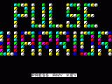 Pulse Warrior ZX Spectrum The Game intro screen with 'press any key' flashing at the bottom to get the game started