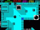 Pulse Warrior ZX Spectrum You (black square) must get the power (small square) avoiding the bad guy (4 circles) and the arrows