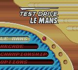 Test Drive: Le Mans Game Boy Color North American title screen