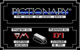 Pictionary: The Game of Quick Draw Atari ST Title screen