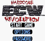 ECW Hardcore Revolution Game Boy Color Title screen