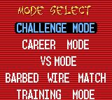 ECW Hardcore Revolution Game Boy Color Mode select