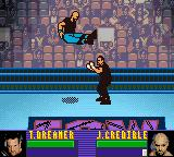 ECW Hardcore Revolution Game Boy Color Justin Credible shows off his flight show.