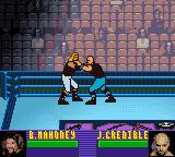 ECW Hardcore Revolution Game Boy Color Justin chokes Mahoney.