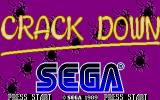 Crack Down Atari ST Second title screen