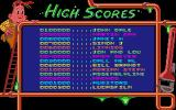 Pipe Dream Atari ST The high score table