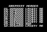 Dave Speed and the Mutants Commodore 64 High scores