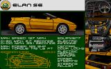 Lotus Turbo Challenge 2 Atari ST Lotus Elan SE specifications