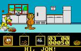 Garfield: Big, Fat, Hairy Deal Atari ST Garfield in the kitchen.