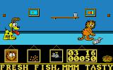 Garfield: Big, Fat, Hairy Deal Atari ST Picking up fish.