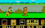 Garfield: Big, Fat, Hairy Deal Atari ST Garfield and Odie outside.