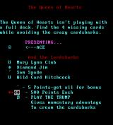 The Queen of Hearts Maze Game DOS Instructions