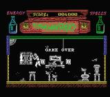 The Munsters MSX I lost all my energy. Game over.