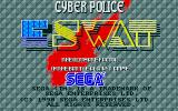 E-SWAT: Cyber Police Atari ST Title screen