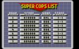 E-SWAT: Cyber Police Atari ST The high score table