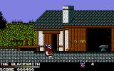 Spike in Transilvania Atari ST Out side the blacksmith's house