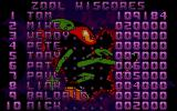 Zool Atari ST The high score table