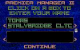 Premier Manager 2 Atari ST Player entry