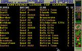 Premier Manager 2 Atari ST The leagues top players