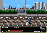 Mazin Saga: Mutant Fighter Genesis Swinging the sword.