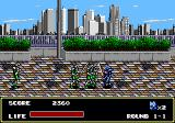 Mazin Saga: Mutant Fighter Genesis Fighting a group of clones.