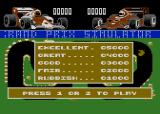 Grand Prix Simulator Atari 8-bit Title screen (title and credits scroll by at the top.)