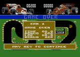 Grand Prix Simulator Atari 8-bit Game over