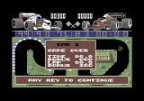 Grand Prix Simulator Commodore 64 Car 1 (me) game over