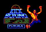 Panza Kick Boxing Amstrad CPC Loading screen and credits