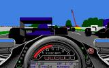 World Circuit Atari ST Driving close to another car.