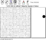 Universal Word Search Browser Starting a master game.