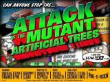 Attack of the Mutant Artificial Trees Browser Title screen and main menu