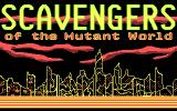 Scavengers of the Mutant World DOS Title screen
