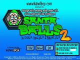 Santa Balls 2: Bigger, Bolder & Bouncier Windows Title screen and main menu