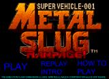 Metal Slug Rampage! Browser Title screen