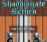 Shadowgate Classic Game Boy Color Title screen (Japanese release)