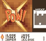Shadowgate Classic Game Boy Color Pow! I hit the weak spot in the wall.