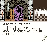 Shadowgate Classic Game Boy Color A wraith is blocking my way.