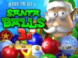 Santa Balls 3D Windows Title screen