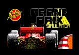 Grand Prix Simulator Amstrad CPC Title screen